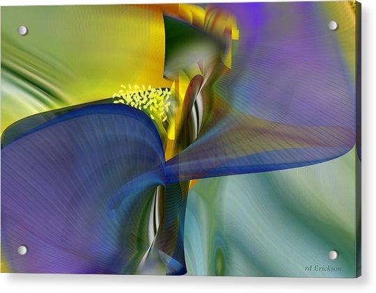 Iris - Abstract Art Acrylic Print
