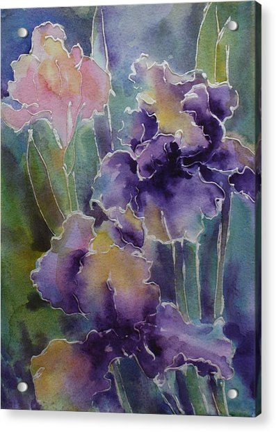 Iris Love Acrylic Print