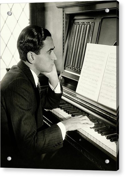Irving Berlin At A Piano Acrylic Print by Florence Vandamm