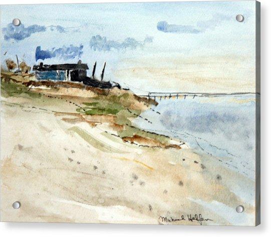 Isolated Beach House Acrylic Print