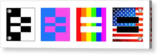 It's Time - Equal Rights For All By Sharon Cummings Acrylic Print