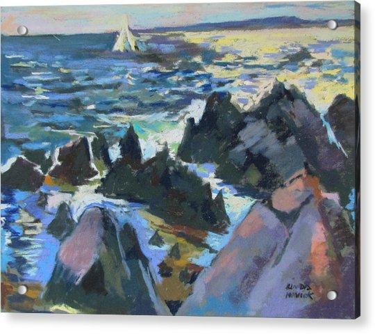 Jagged Rocks Acrylic Print