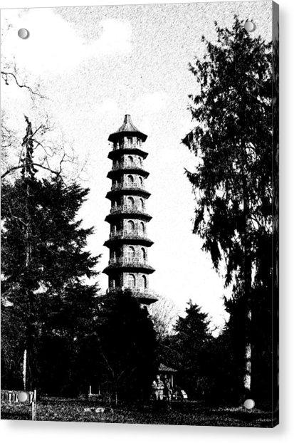 Japanese Pagoda At Kew Gardens Acrylic Print