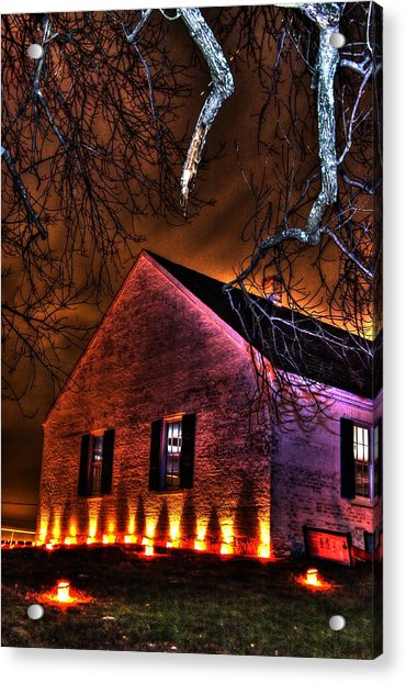 Jaws Of Death Or Haven Of Rest - The Dunker Church-a1 - Antietam Memorial Illumination Acrylic Print
