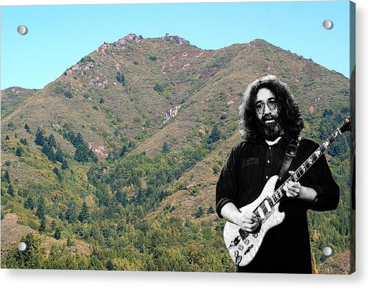 Jerry Garcia And Mount Tamalpais Acrylic Print