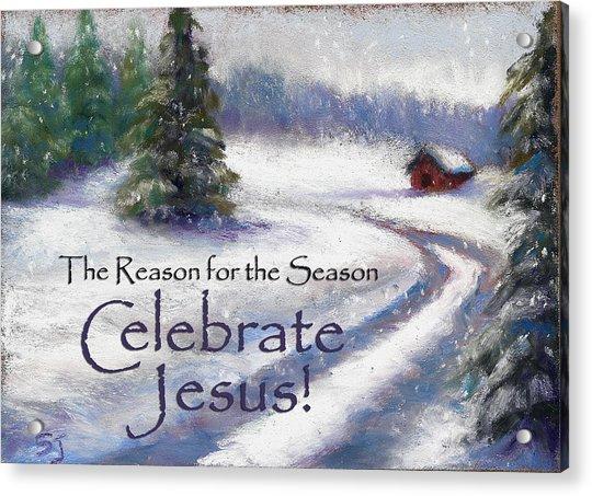 Jesus Christmas Acrylic Print