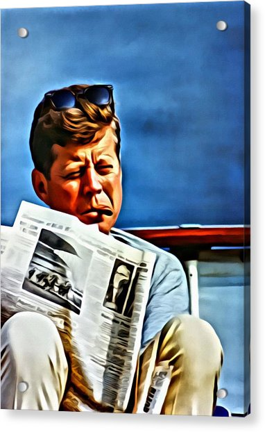 John F Kennedy Acrylic Print