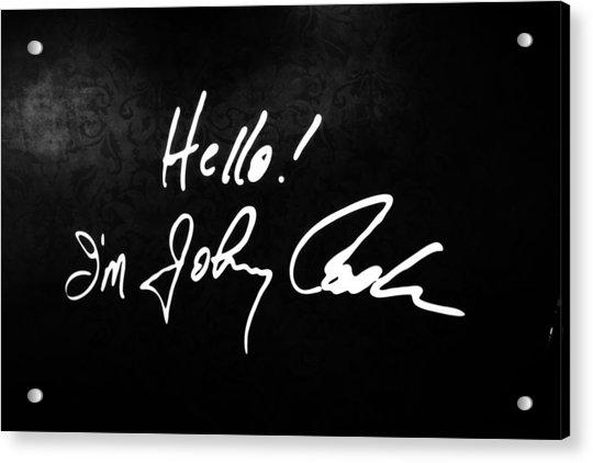 Johnny Cash Museum Acrylic Print