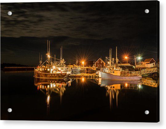 Acrylic Print featuring the photograph John's Cove Reflections by Garvin Hunter
