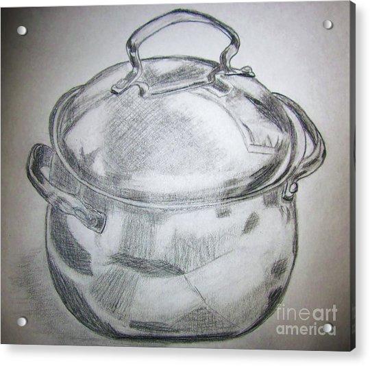 Just An Old Pot Acrylic Print