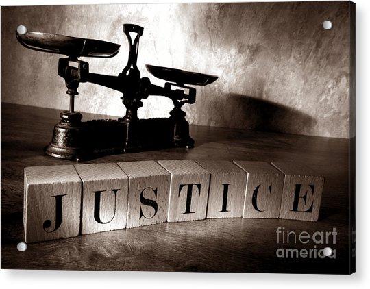 Justice Acrylic Print