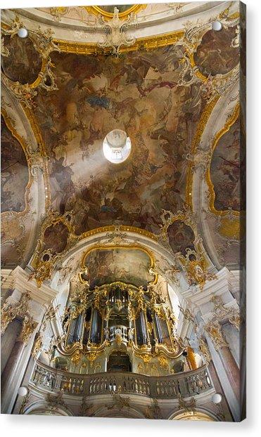 Kappele Wurzburg Organ And Ceiling Acrylic Print
