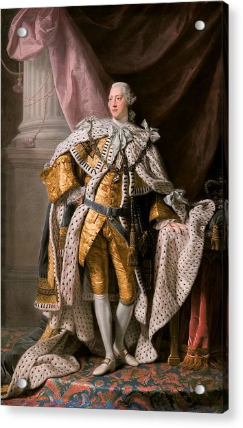 King George IIi In Coronation Robes Acrylic Print