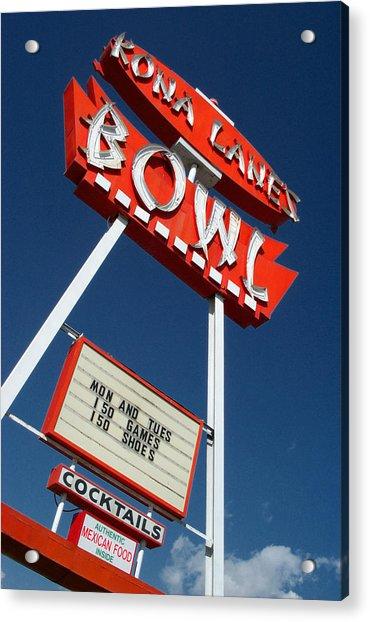 Kona Lanes Acrylic Print