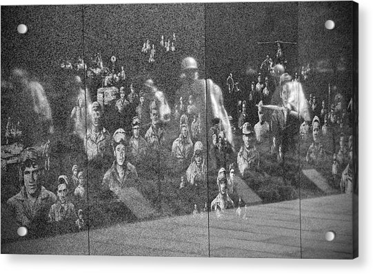 Acrylic Print featuring the photograph Korean War Veterans Memorial by Jemmy Archer