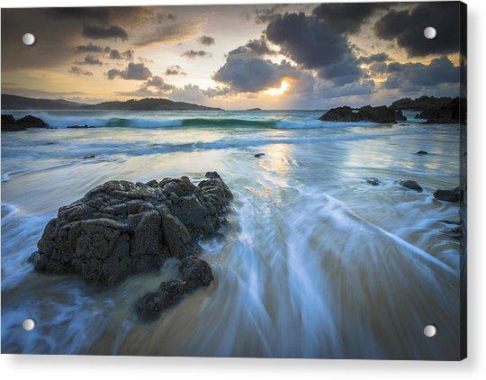 La Fragata Beach Galicia Spain Acrylic Print