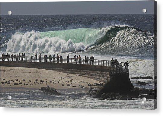 La Jolla Monster Surf Acrylic Print