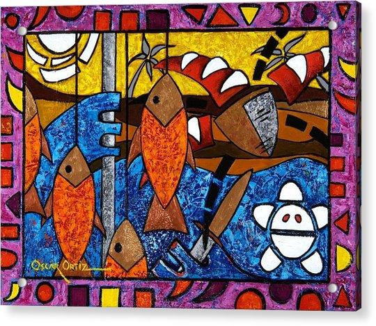 La Pesca Virgen De Un Hombre Honrado Acrylic Print