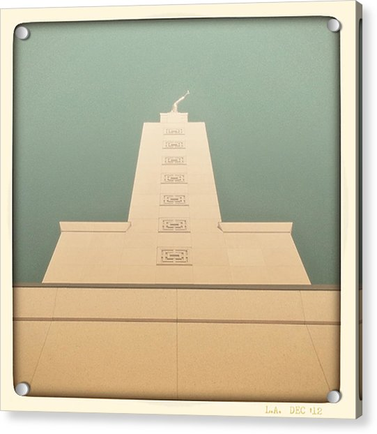 L.a. Temple Green Acrylic Print