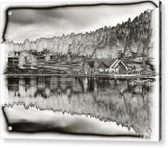 Lake House Reflection Acrylic Print