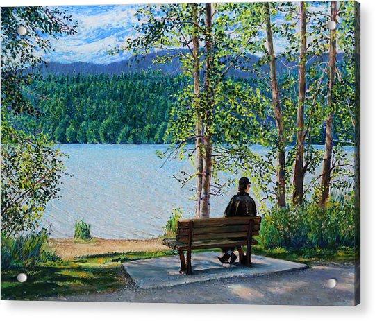 Lake Padden - Schwartz Bench Acrylic Print
