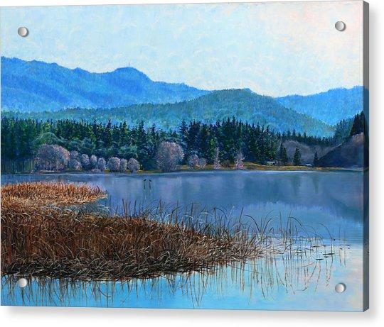 Lake Padden - View Near Gosset Bench Acrylic Print