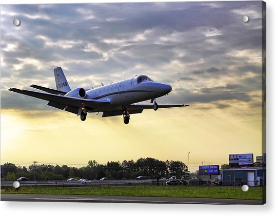 Acrylic Print featuring the photograph Landing At Sunrise by Jason Politte