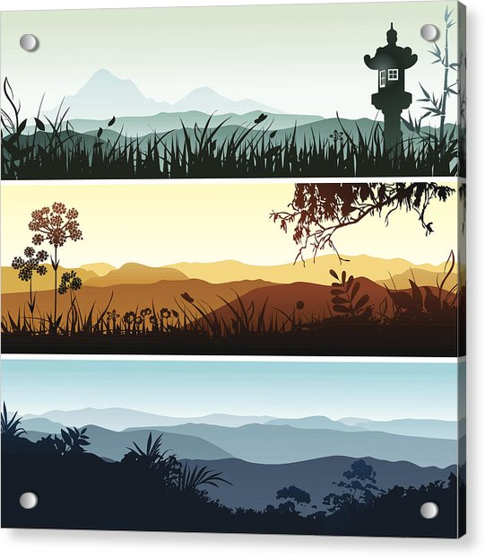 Landscape Banners Acrylic Print by Bettafish