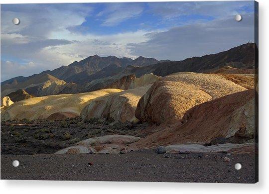 Last Light In Death Valley Acrylic Print