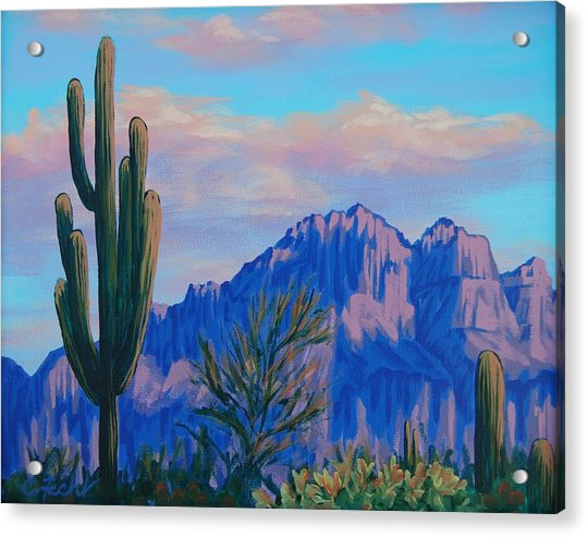 Last Light On The Superstitions Acrylic Print