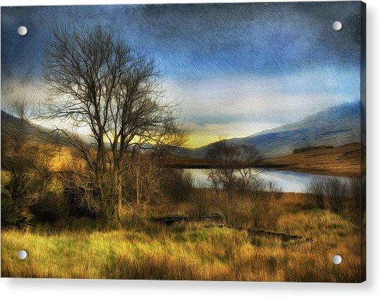 Snowdonia Autumn Lake Acrylic Print
