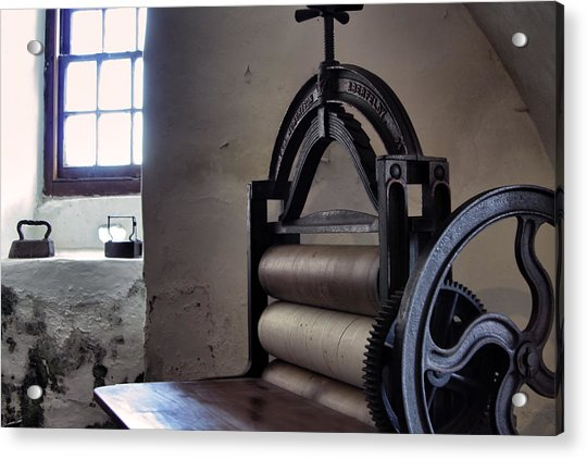 Acrylic Print featuring the photograph Laundry Press by Jason Politte