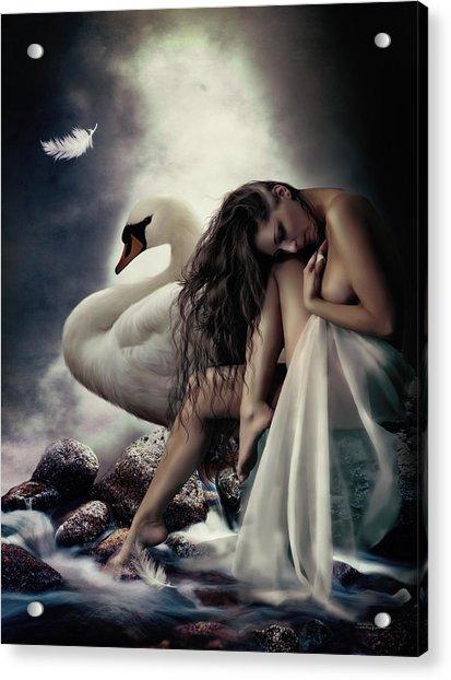 Leda And The Swan Acrylic Print