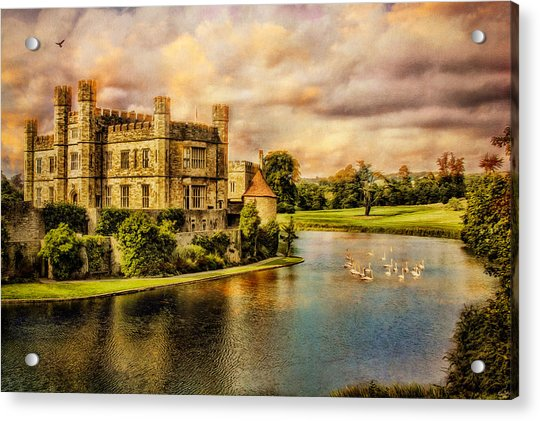 Acrylic Print featuring the photograph Leeds Castle Landscape by Chris Lord