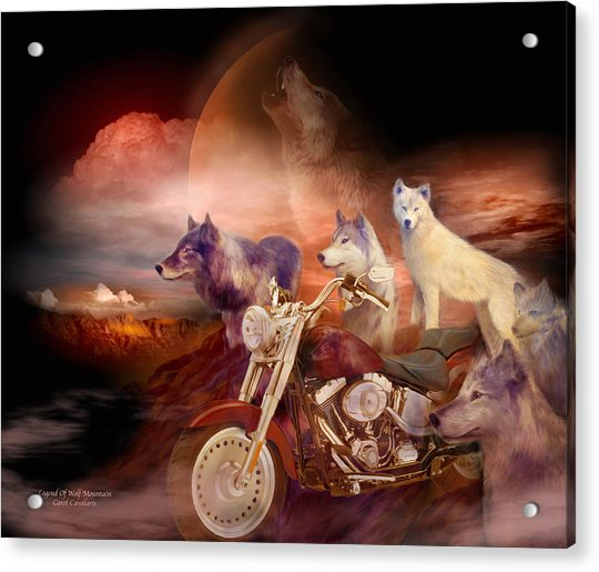 Legend Of Wolf Mountain Acrylic Print