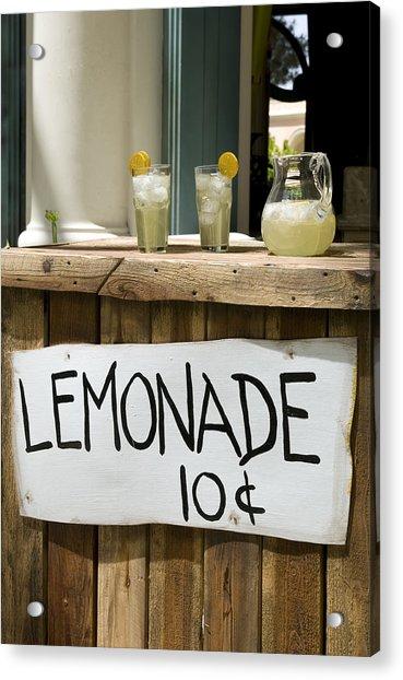 Lemonade Stand Acrylic Print