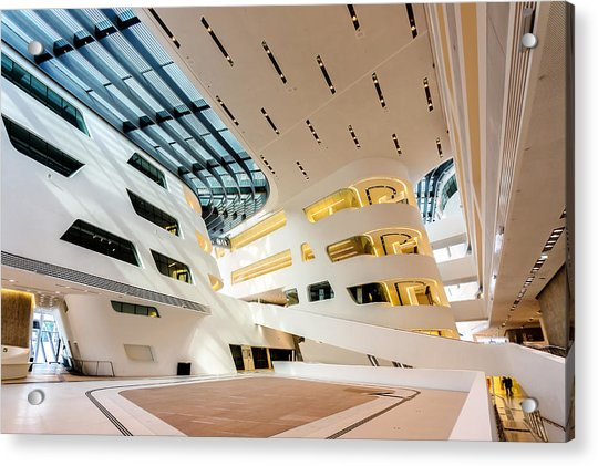 Library Interior 2  Zaha Hadid Wu Campus Vienna  Acrylic Print