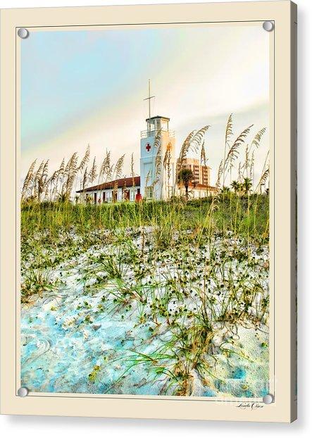 Lifeguard Station At Dusk Acrylic Print