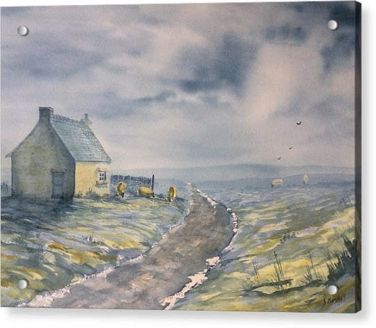 Lifting Mist At Trough House In Glaisdale Acrylic Print