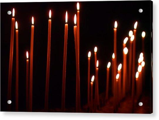 Light A Candle Say A Prayer Acrylic Print