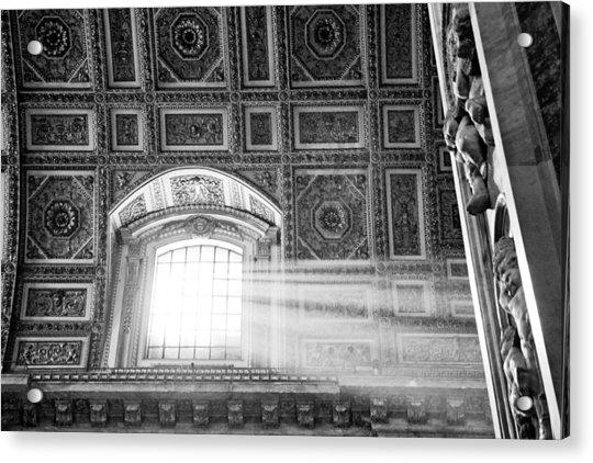 Light Beams In St. Peter's Basillica Acrylic Print