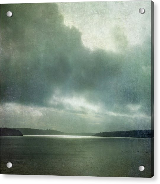 Acrylic Print featuring the photograph Light Within The Storm by Sally Banfill