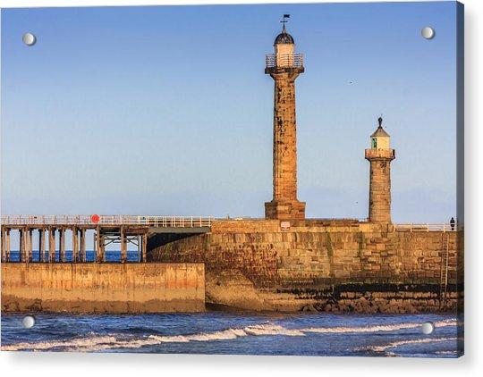 Lighthouses On The Piers Acrylic Print