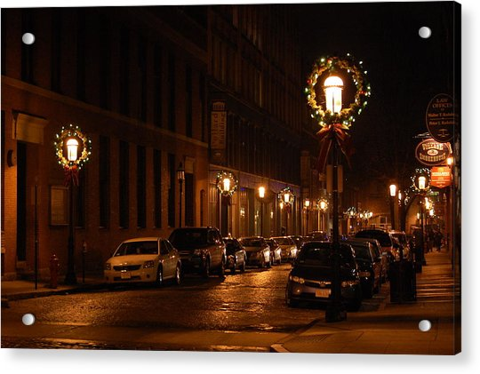 Lights Lowell Ma At Christmas II Acrylic Print