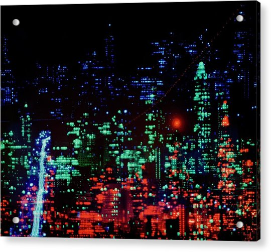 Lights Of New York City Acrylic Print
