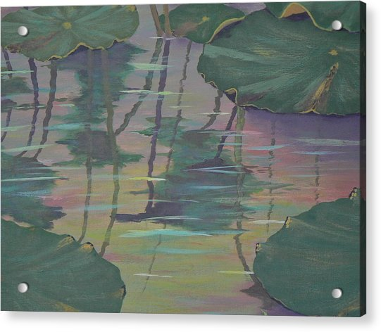 Lily Pad Reflections Acrylic Print