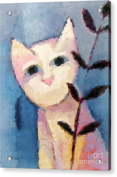 Little White Cat Acrylic Print