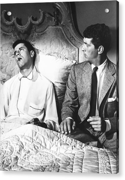 Art print POSTER Canvas Jerry Lewis and Dean Martin in Pajamas