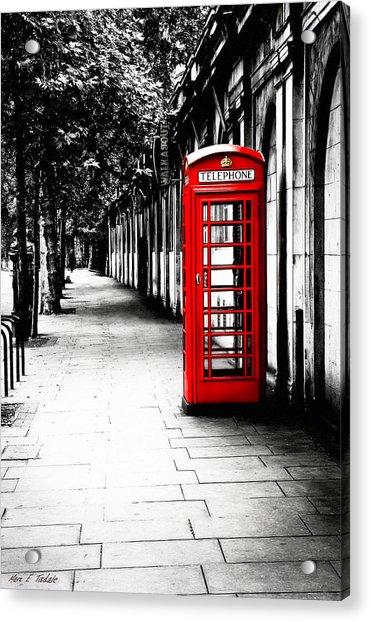 London Calling - Red Telephone Box Acrylic Print