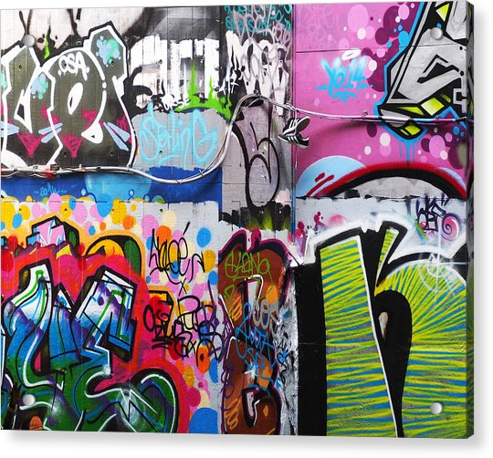 Acrylic Print featuring the photograph London Skate Park Abstract by Rona Black